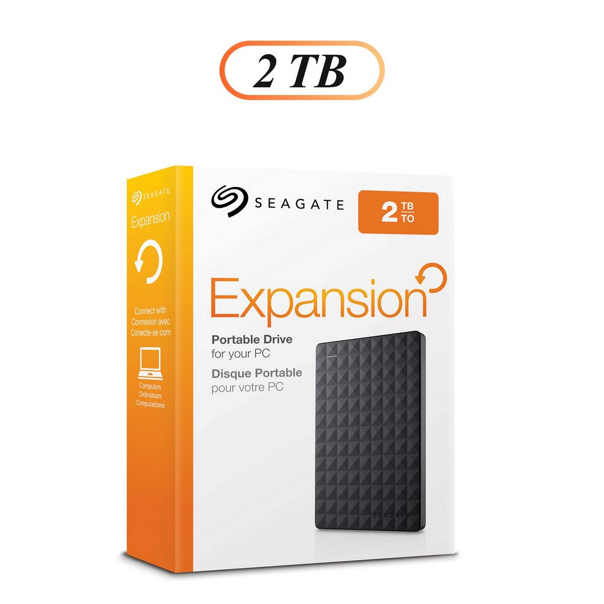 "Seagate 2TB Expansion External Hard Drive USB 3.0 2.5"" Portable Hard Drive"