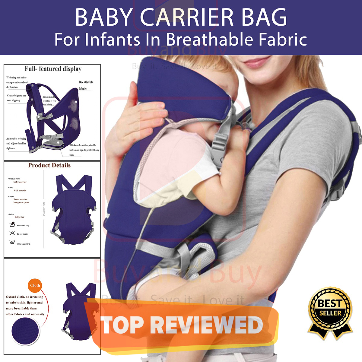 2 In 1 Baby Carrier Bag