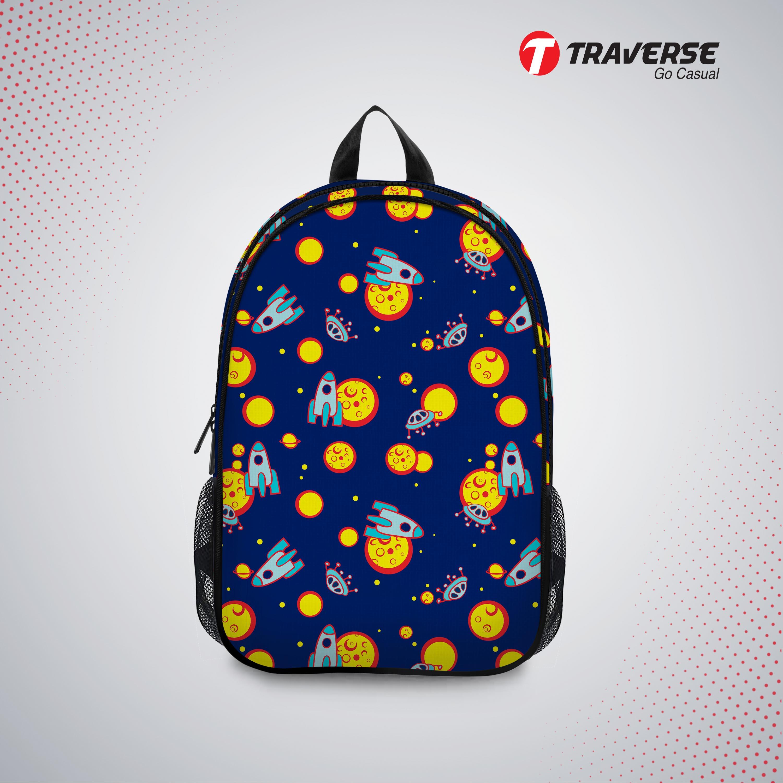 Kids Bag- Space Shuttle , Backpack For Kindergarten (kg), Pre-school Classes. Allover Printed