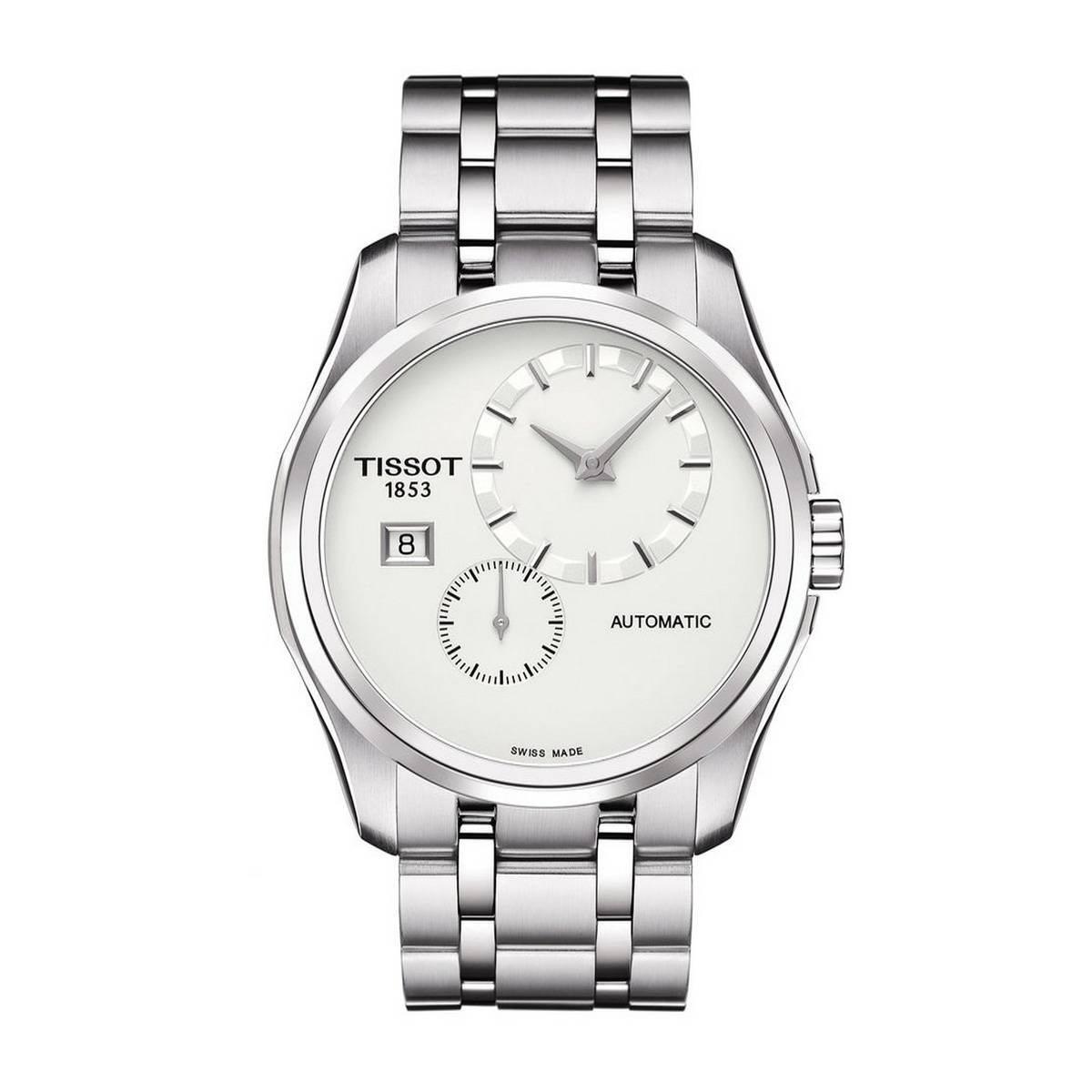 TISSOT COUTURIER AUTOMATIC WHITE DIAL MEN'S WATCH - T035.428.11.031.00
