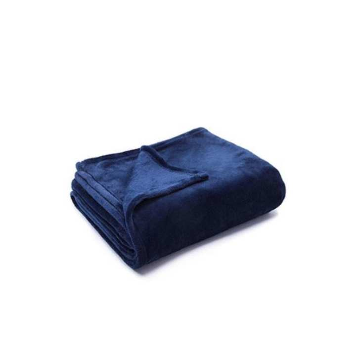 Plain Fleece Blue Double