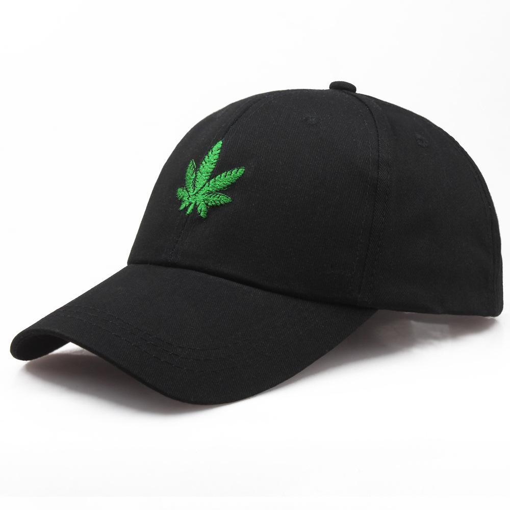 29701fe5854 Cap Embroidery Maple Leaf White Cap New Fashion Hats for Men Women Cotton  Swag Hip Hop