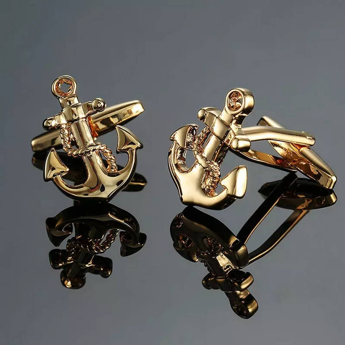 Sea Anchor Cuff Links Wedding Party Gift Cufflinks For Mens French Suit Shirt Button.