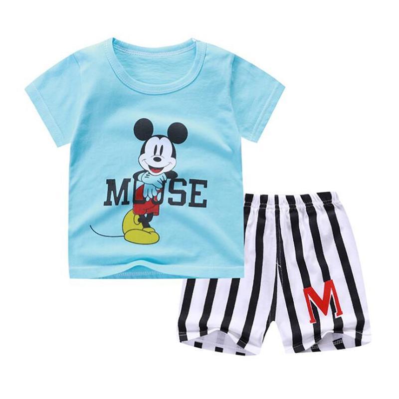 60b3515a Kids Clothes Boys Sets Summer Children Clothing Sets Baby Boys Elephant T  Shirt Design Different BI