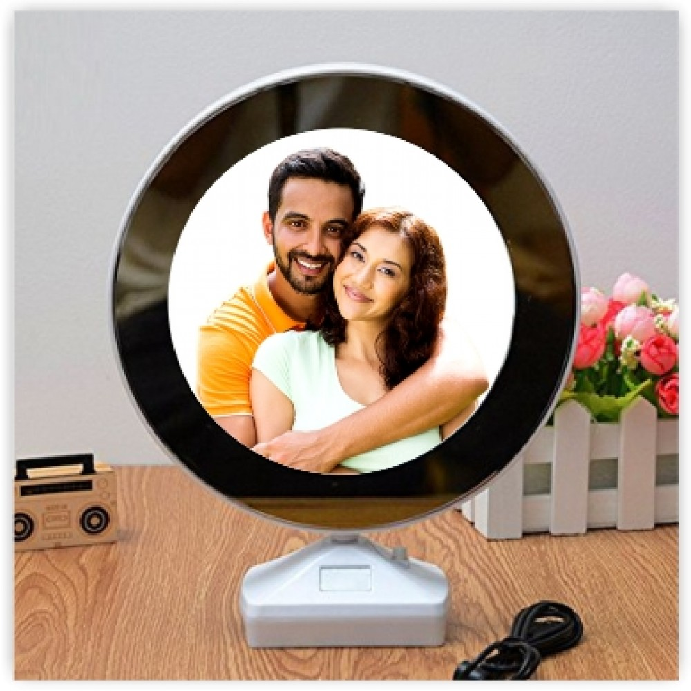Magic Photo Frame with Mirror round LED Imported Quality