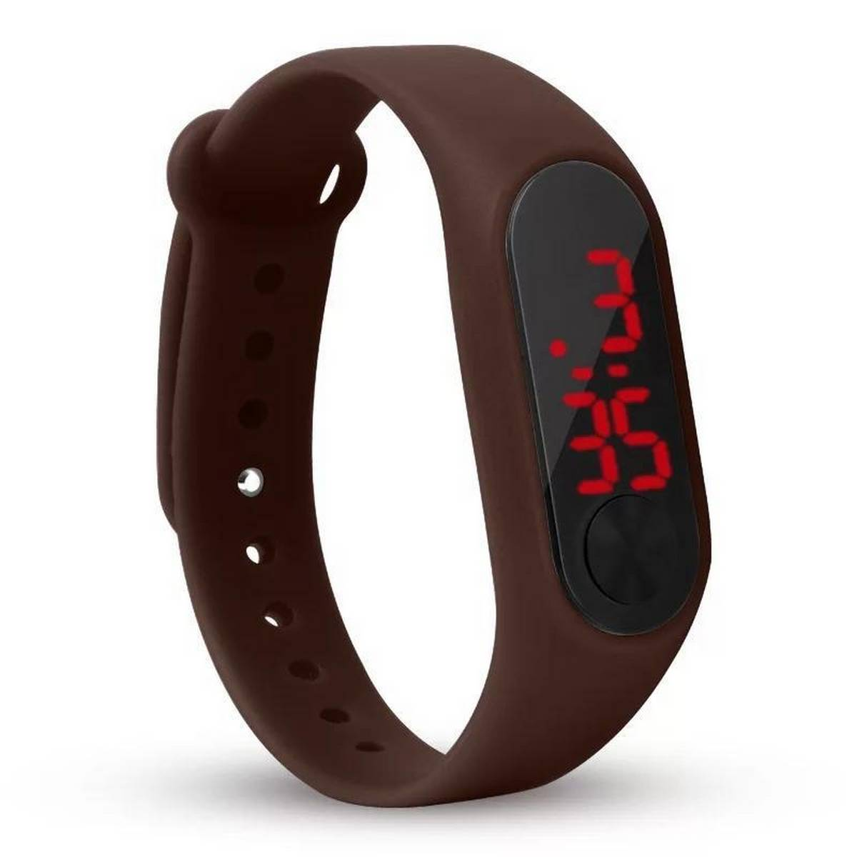 Super Fit Led Sports Smart Watch - Brown