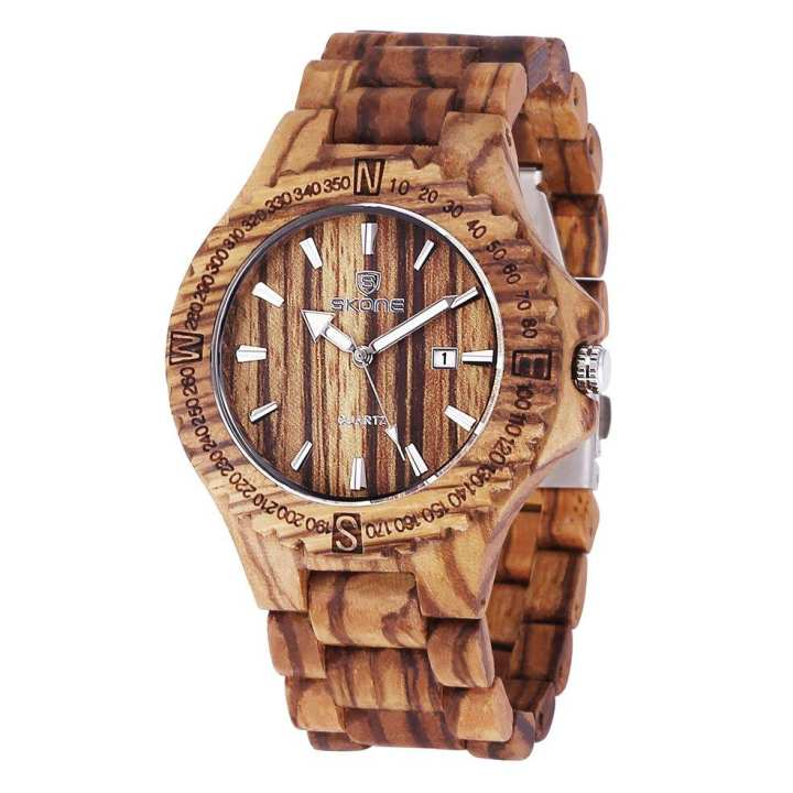 Unisex Exquisite Wood Wrist Watch Men Simple Wooden Band Clock Hour Gifts