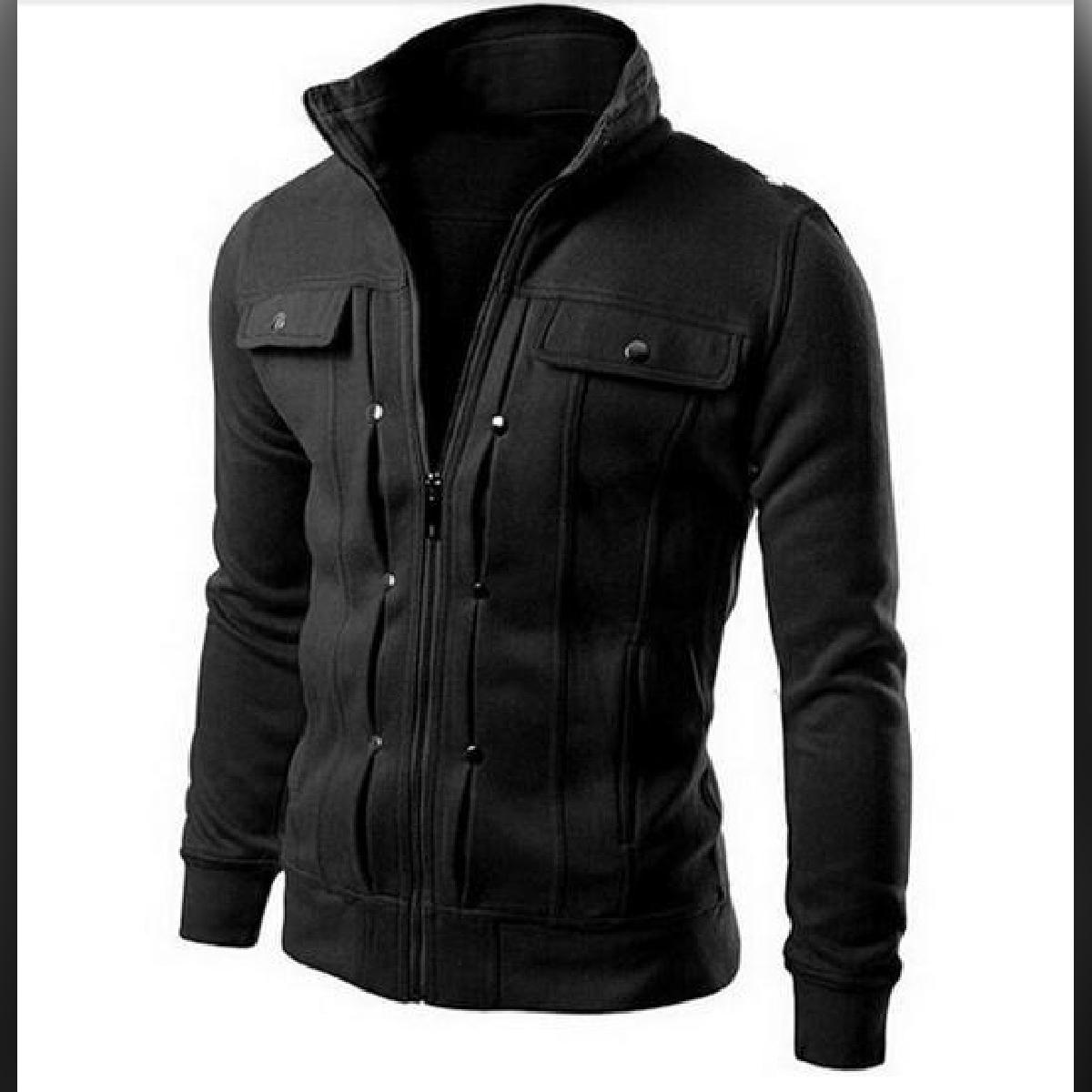 Fashion 2020 Designer Fleece Winter Zipper Casual Stylish Mock Neck and Hooded Full Sleeves Jacket for Men