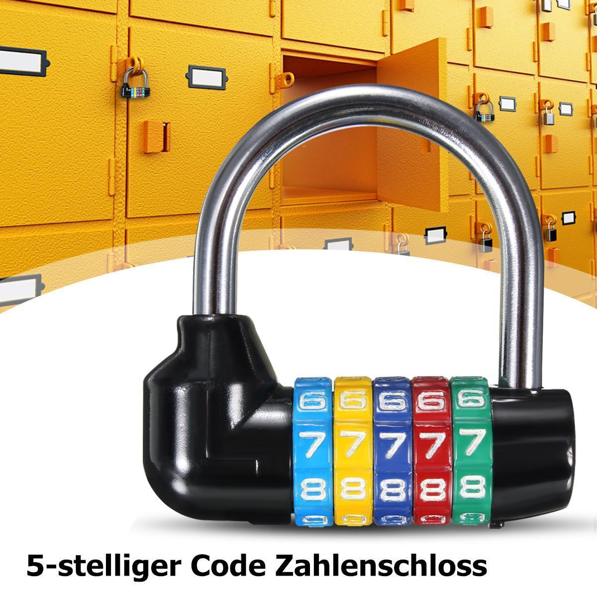 26aaac13de64 Resettable 5 Digit Number Code Password Combination Padlock Security Safety  Lock