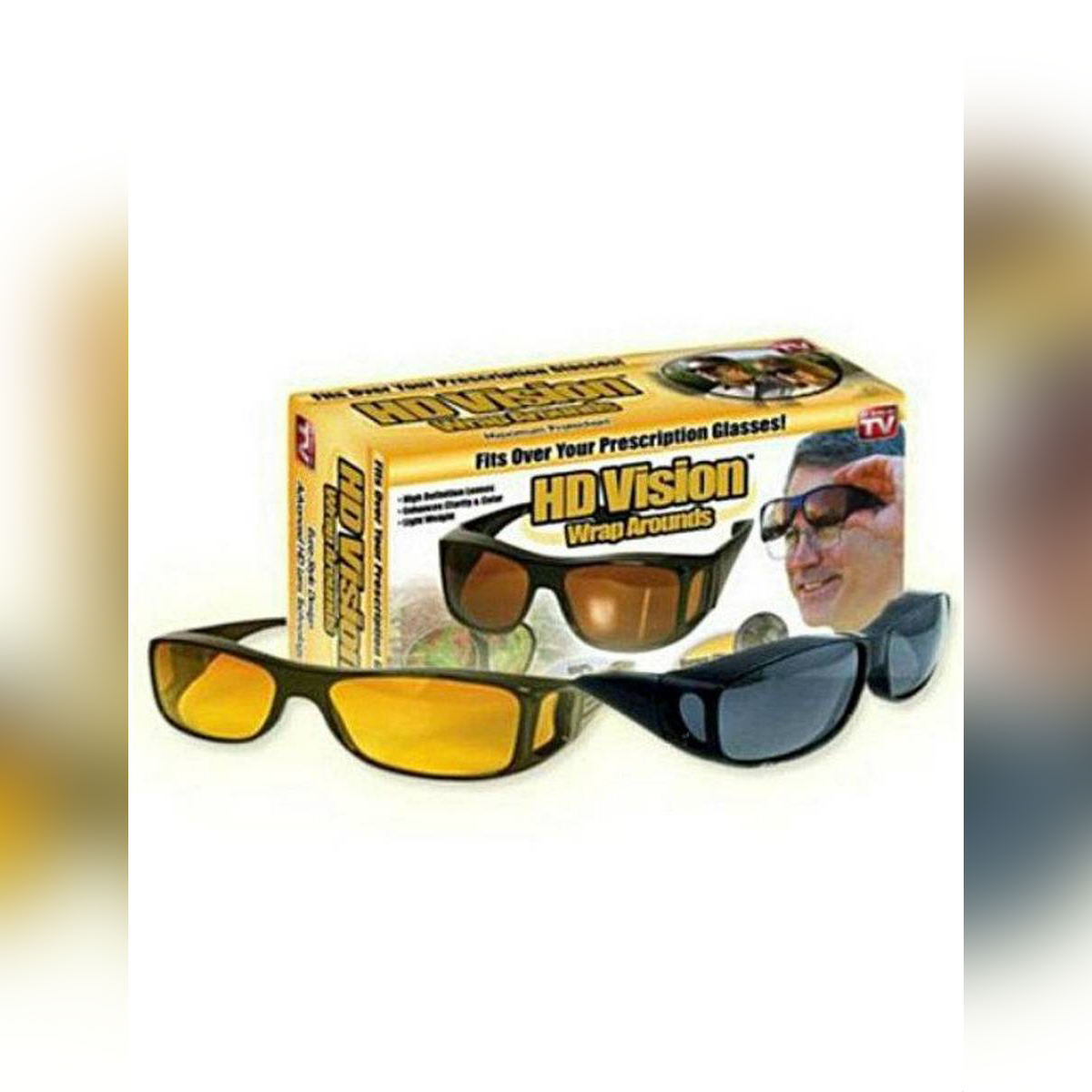 Pack of 2 - Night & Day HD Vision Glasses