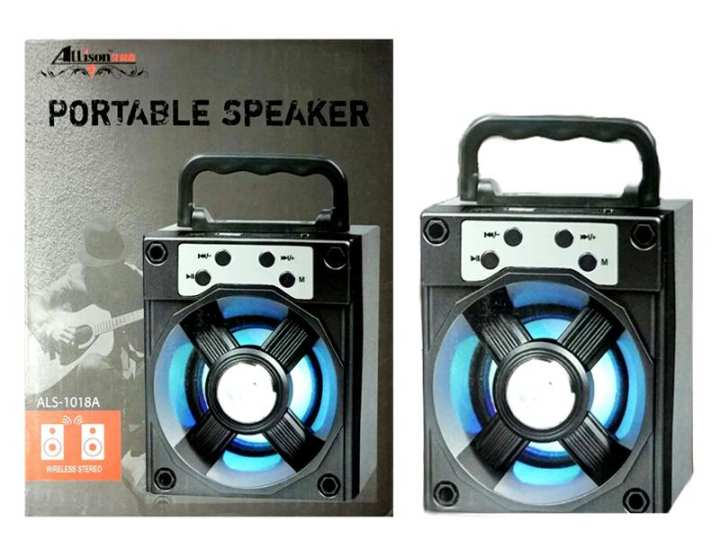 Bluetooth Wireless Portable Speaker with Led Dancing Light With High Bass Sound best for Travel and Tour