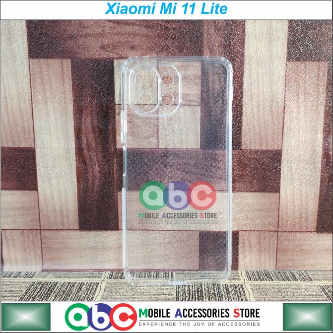 Xiaomi Mi 11 Lite Case , Soft TPU Camera Protective with Anti-Dust Plugs , Anti-Slip Grip , Shockproof Slim Ultra Clear Back Cover for  Mi11Lite