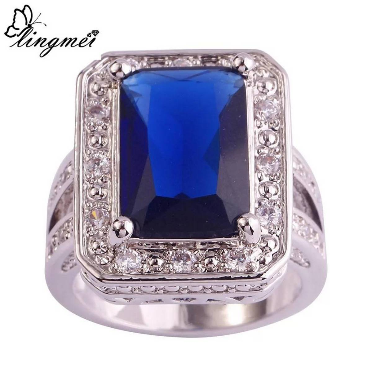 Diamond Engagement Wedding Ring for Ladies