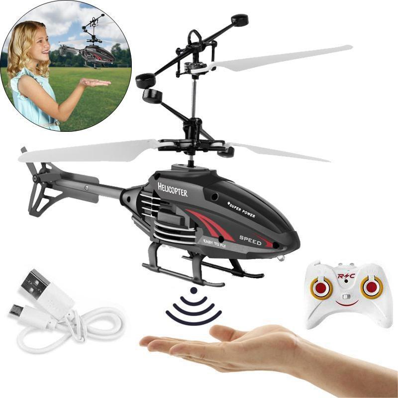 Flying helicopter toy USB charging induction suspension helicopter