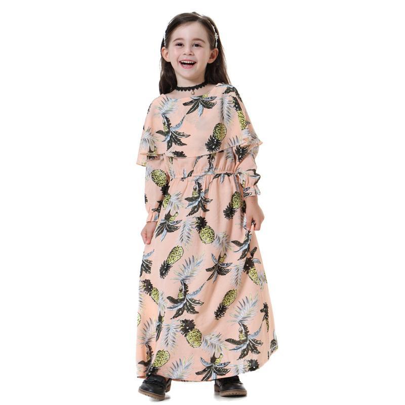 14a6ee4aea Poplikdfr Stylish Muslim Girl Long Sleeve Dress Cute Party Wedding Outfits  Performance Dress Gift