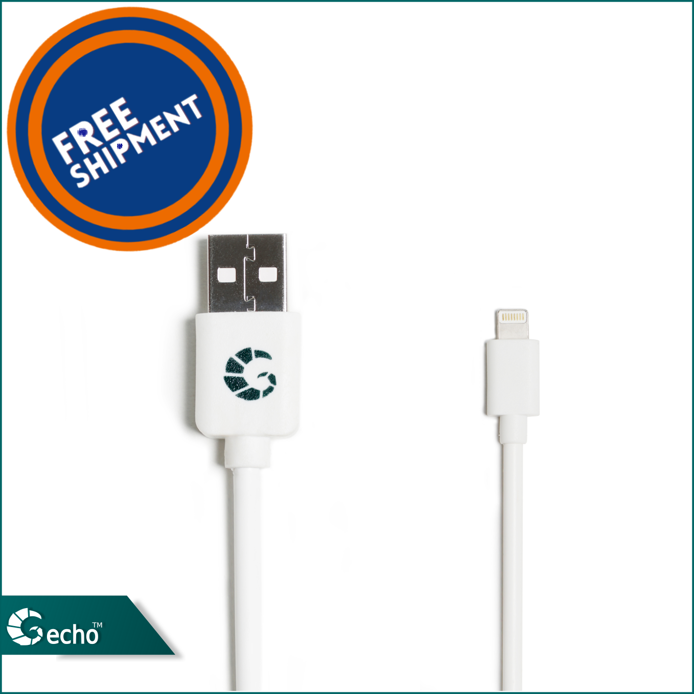 Lightning USB Data Cable - Charging Cable - Iphone Cable - For iPhones and iPads and iPods - USB Cable By Gecho
