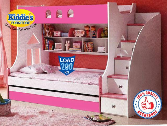Pink Bunker Bed Stylish