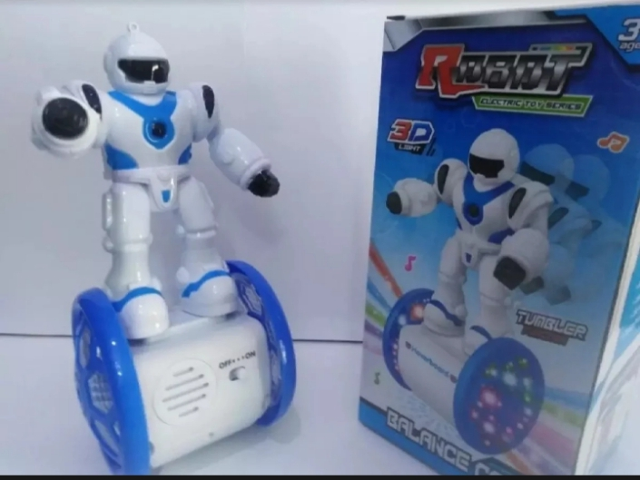 Electric Balance Car Robot With 360 Degree Rotation And Coll Dynamic Lights And Music Nice Toy For Kids