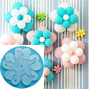 6pcs Balloon Flower Clips -Original Packing Plastic Flower Balloon Clips Closures - Make Flower Design Balloon for Wedding Birthday Party Holiday Decoration