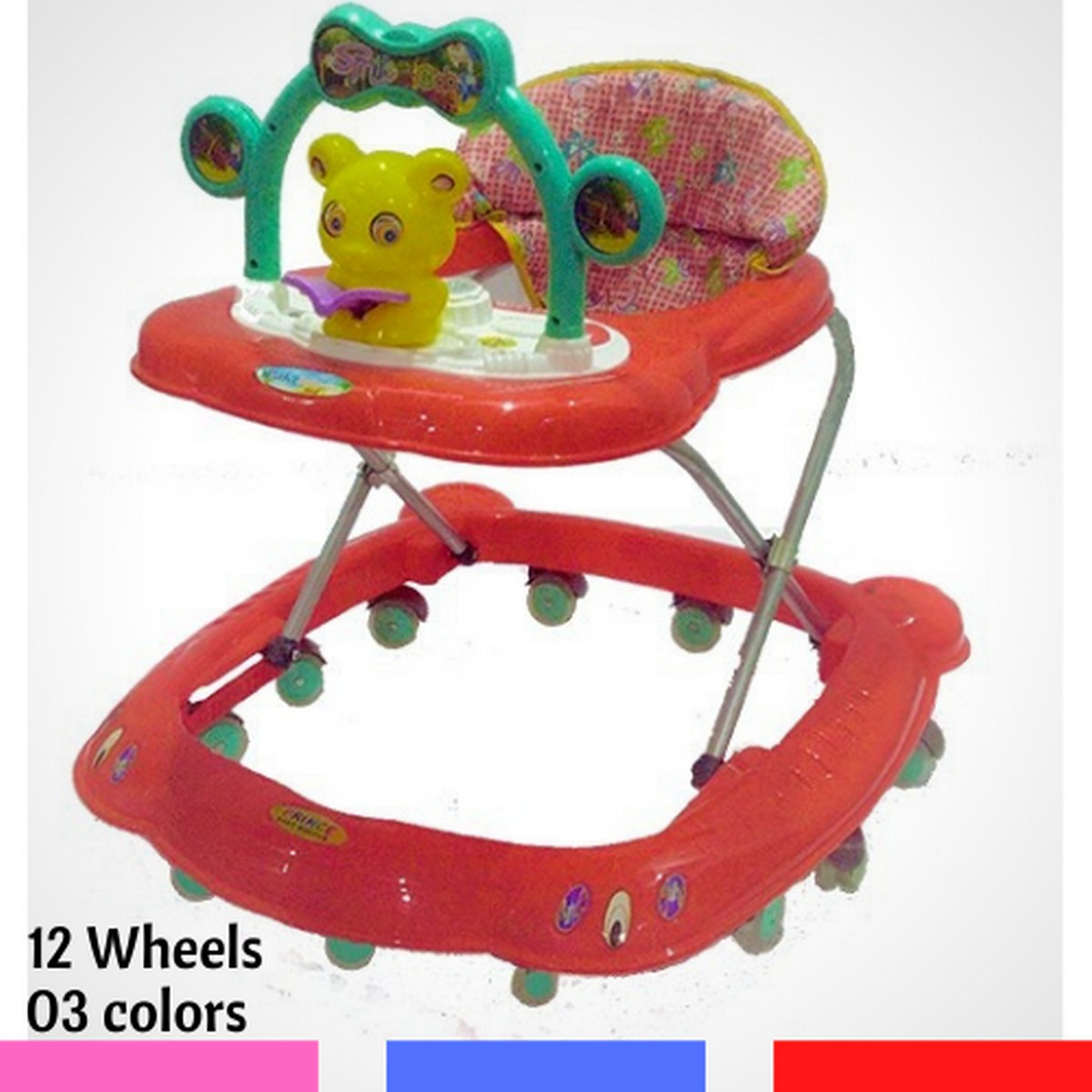 12 Wheel Music Tray Baby Walker   Baby Walkar for new born    Kids Wakar for toodlers   Baby waker for girls and boys
