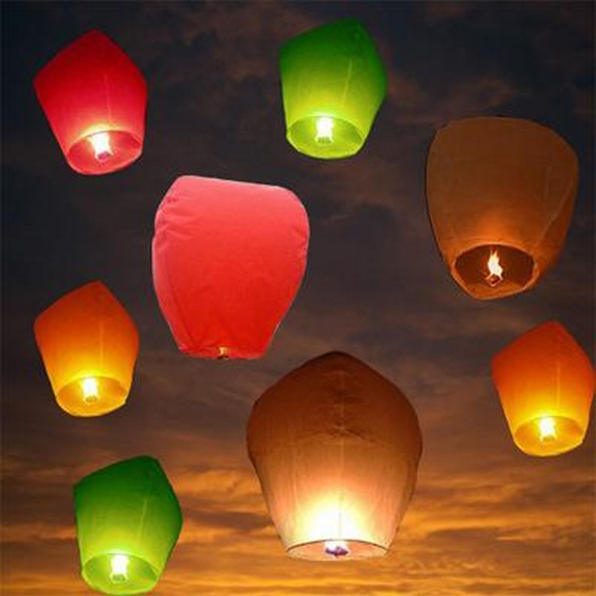 Pack of 3 Pieces Sky Lanterns