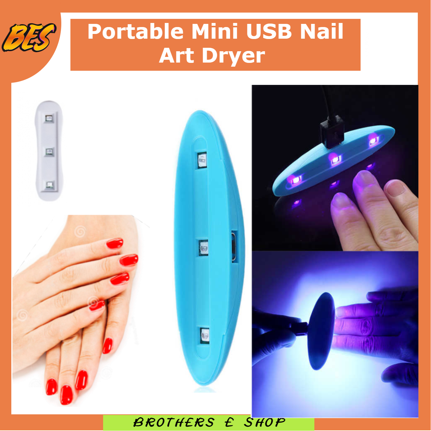 GIRLS Accessories ; UV LED Nail Dryer Lamp Light Portable for Gel Based Polishes for GIRLS Brothers e shop