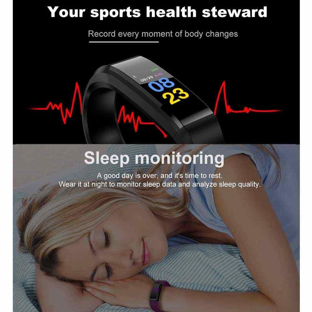 LED Smart Band Health Steward BP Monitor smart watch Waterproof fitness  bracelet
