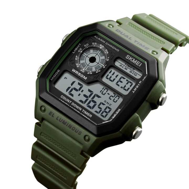NiceEstore SKMEI Sports Watches Count Down 50m Water Resistance Waterproof Luminous Watch Fashion Digital Wristwatches Clock