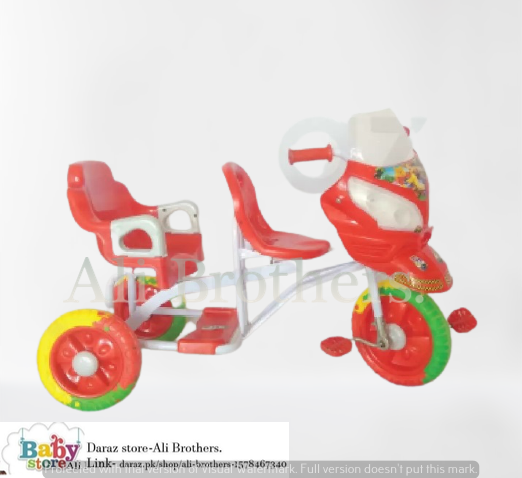 Changchi Tricycle with Lights & Music In Double Seat