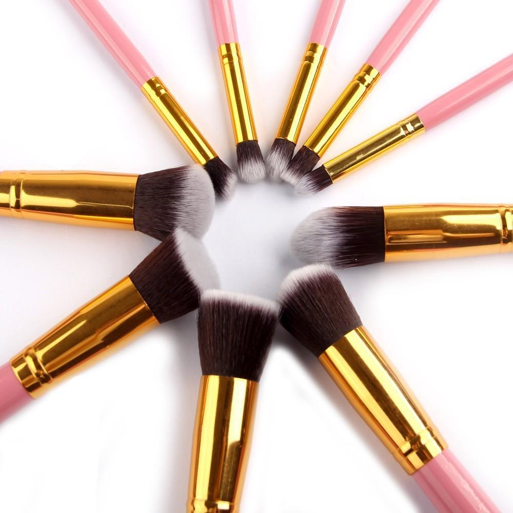 Pack of 10 Kit High Quality Makeup Brushes Set [IMPORTED]