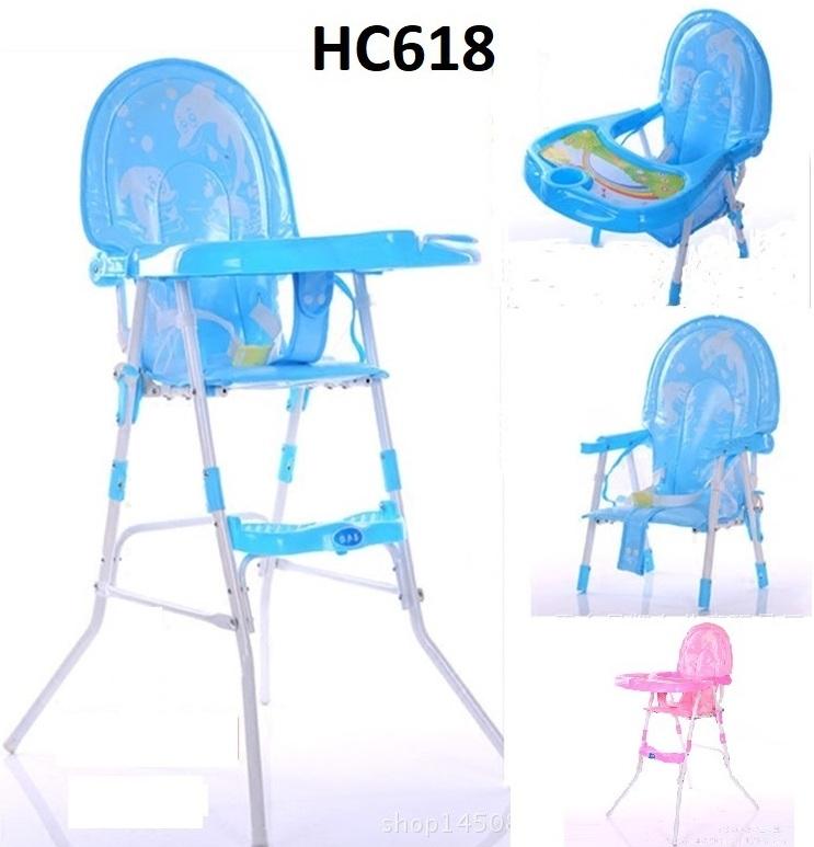 Imported Aluminium Dinning High Chair - Folding