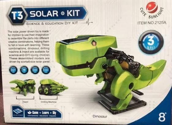 Solar Robot Kit Science & Education T3- 3 in 1 (Dinosaur, Insect, Drilling Machine)