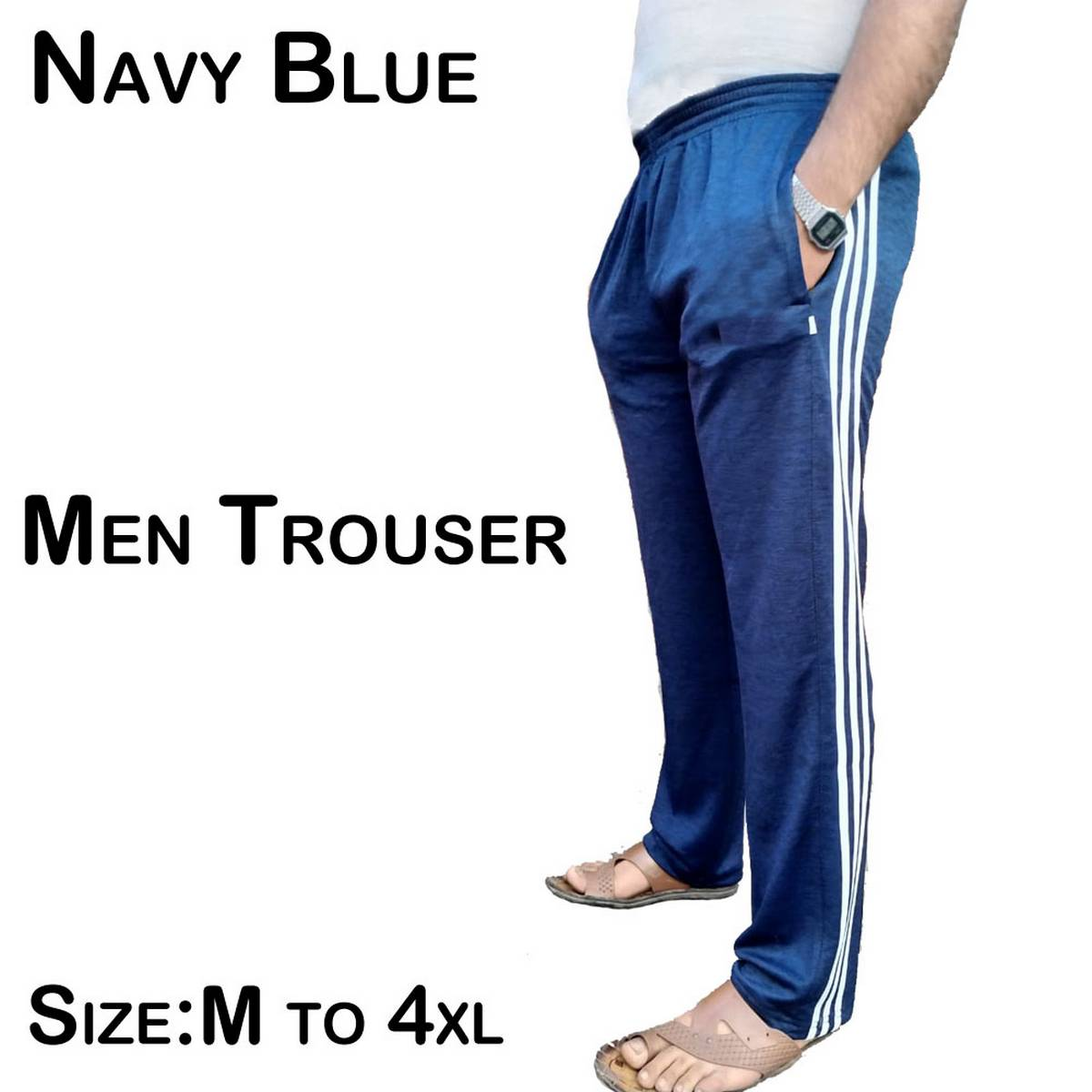 Fashion Cotton Pajamas For Workout Pants with Side Strips and 2 Pocket