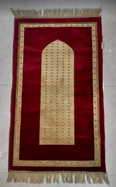 Prayer Mat Grey Velvet Jaye Namaz ( Jai Namaz)