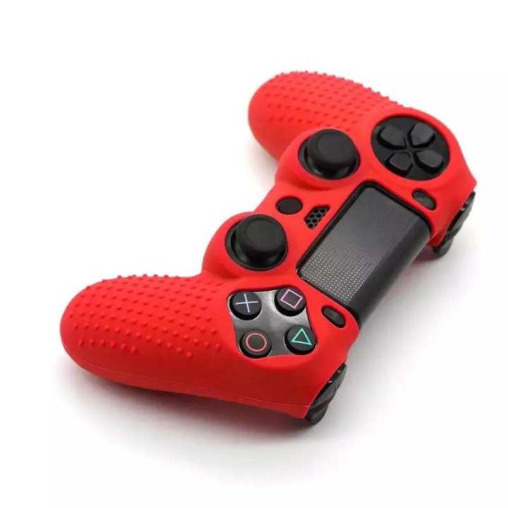 Non-slip Soft Silicone Protective Skin Cover Case for PS4 Controller