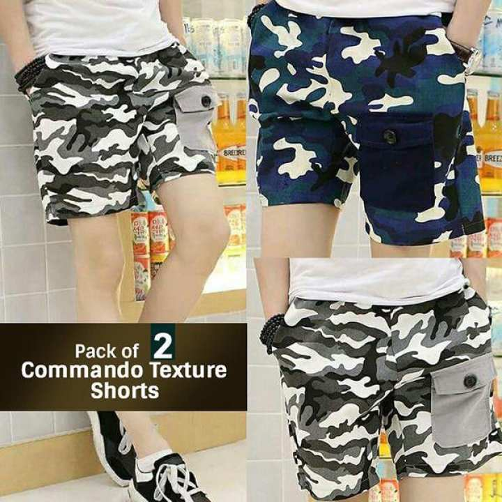 Pack Of 2 Commando Texture Shorts
