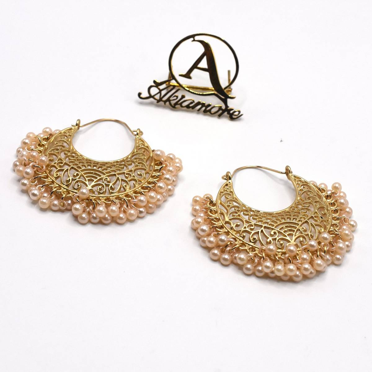 2020 New Indian Gold Handmade Beads Thailand Piercing Earrings Fashion Party Jewelry
