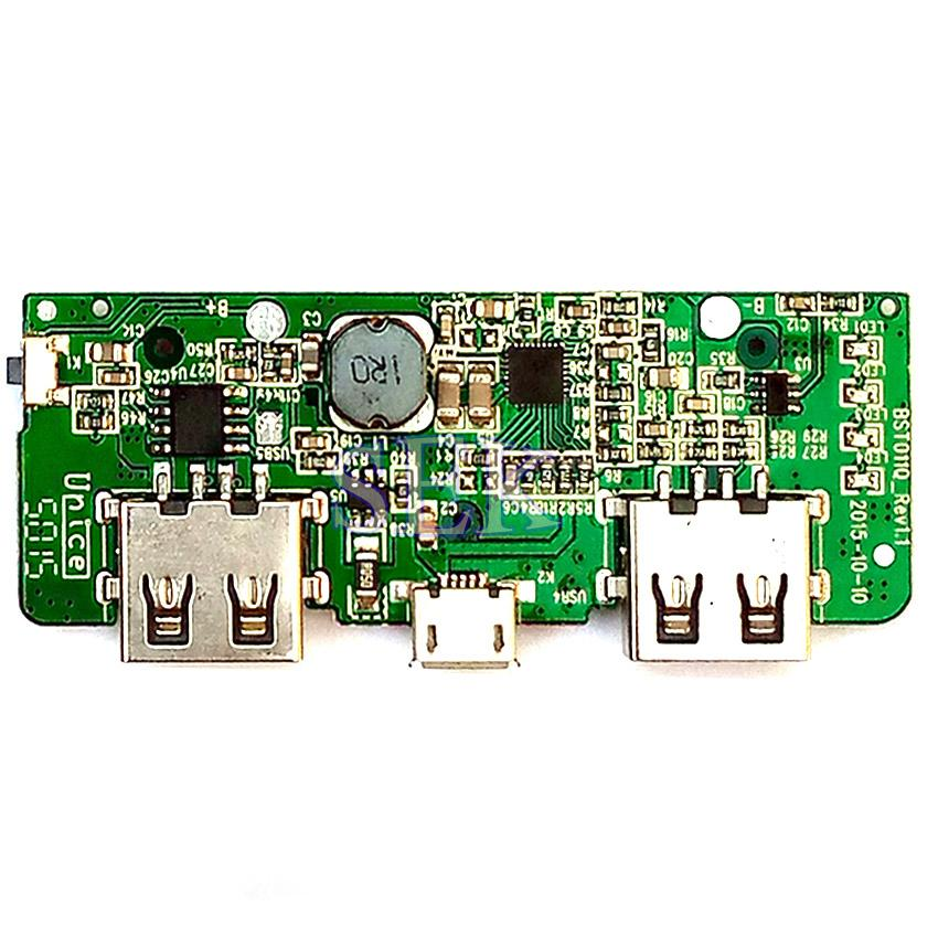 2 1A Dual USB Power Bank 18650 Battery Charging Control Circuit Board