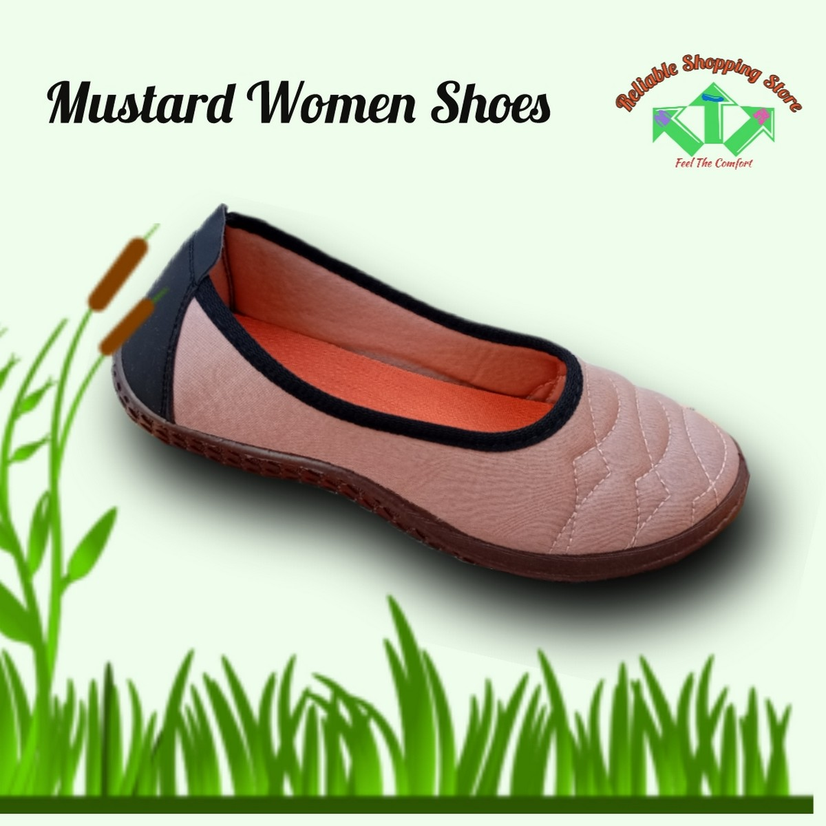 Mustard Canvas Shoes For Ladies