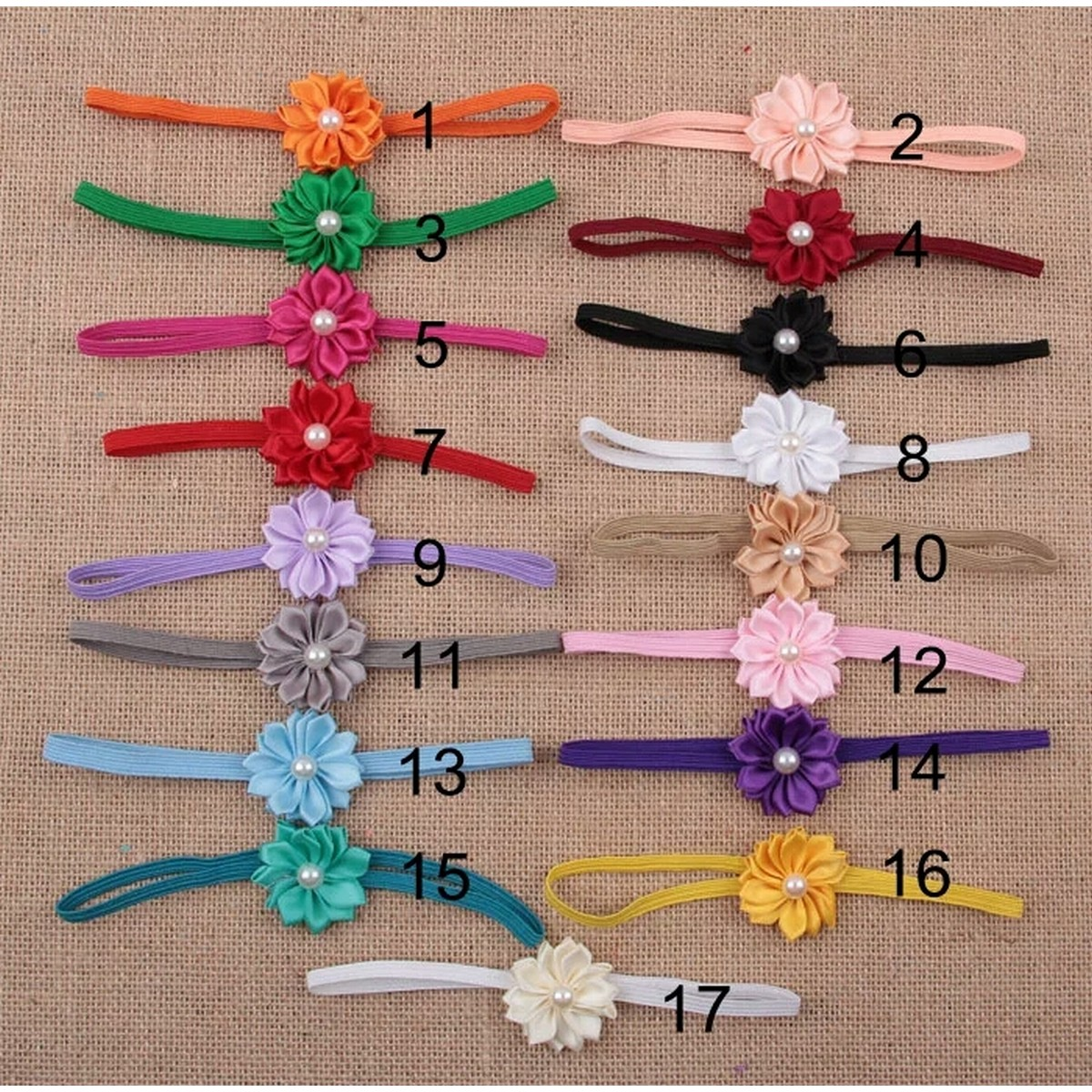 1pc Mini Petals with Baby Bands Fashion Kids Girl  Headband Toddler Flower  Hair Accessories