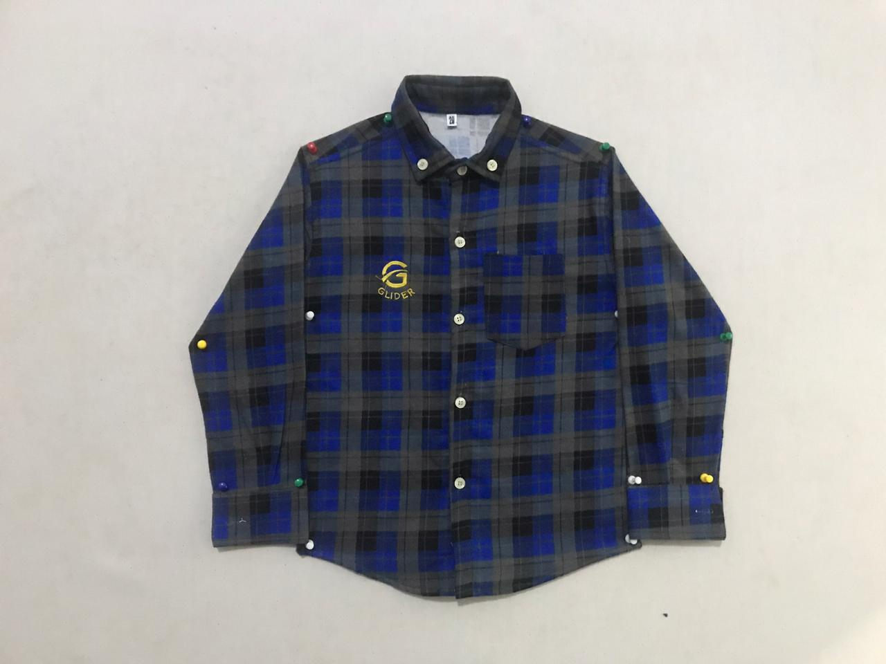 Flannel Casual Shirt For Boys In Blue Color 2 To 3 Years