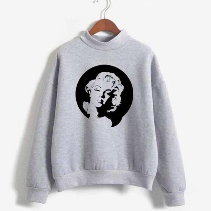 Madonna Fleece Cotton Sweat Shirt For Woman