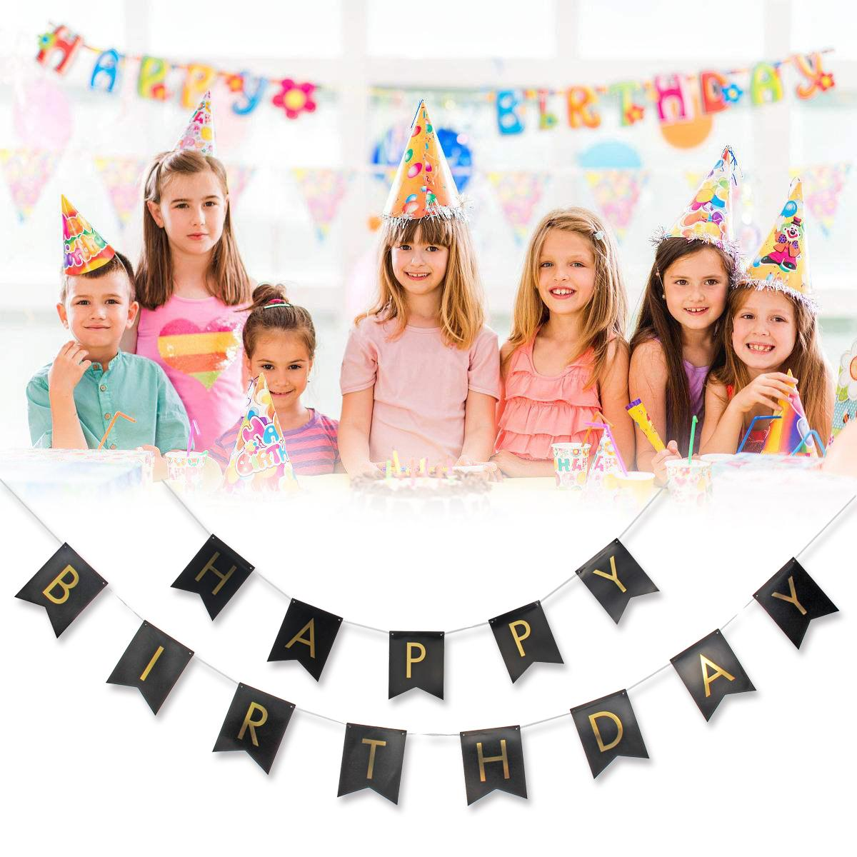 Happy Birthday Banner Set Tissue Paper Pompom Tassel Garland Party Hanging Decor Black Buy Online At Best Prices In Pakistan Daraz Pk