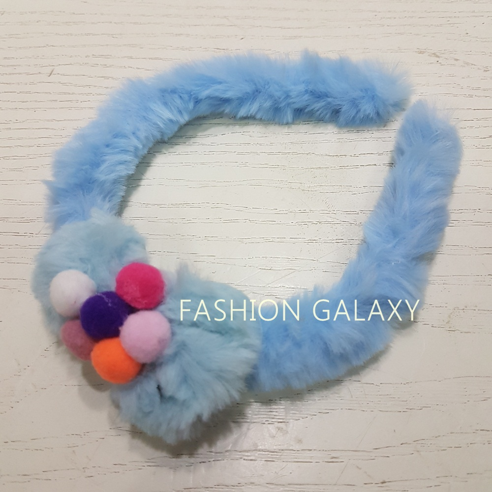 Excellent Quality Kids Girl Soft Fluffy Solid Hair Band/Ribbon In Bow Design