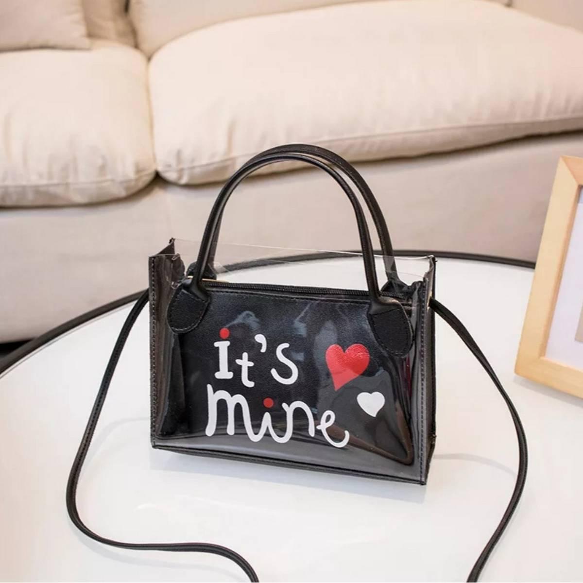 Women's Bag New Fashion Printed Transparent Tote Bag Shoulder Crossbody Portable Small Square Bag