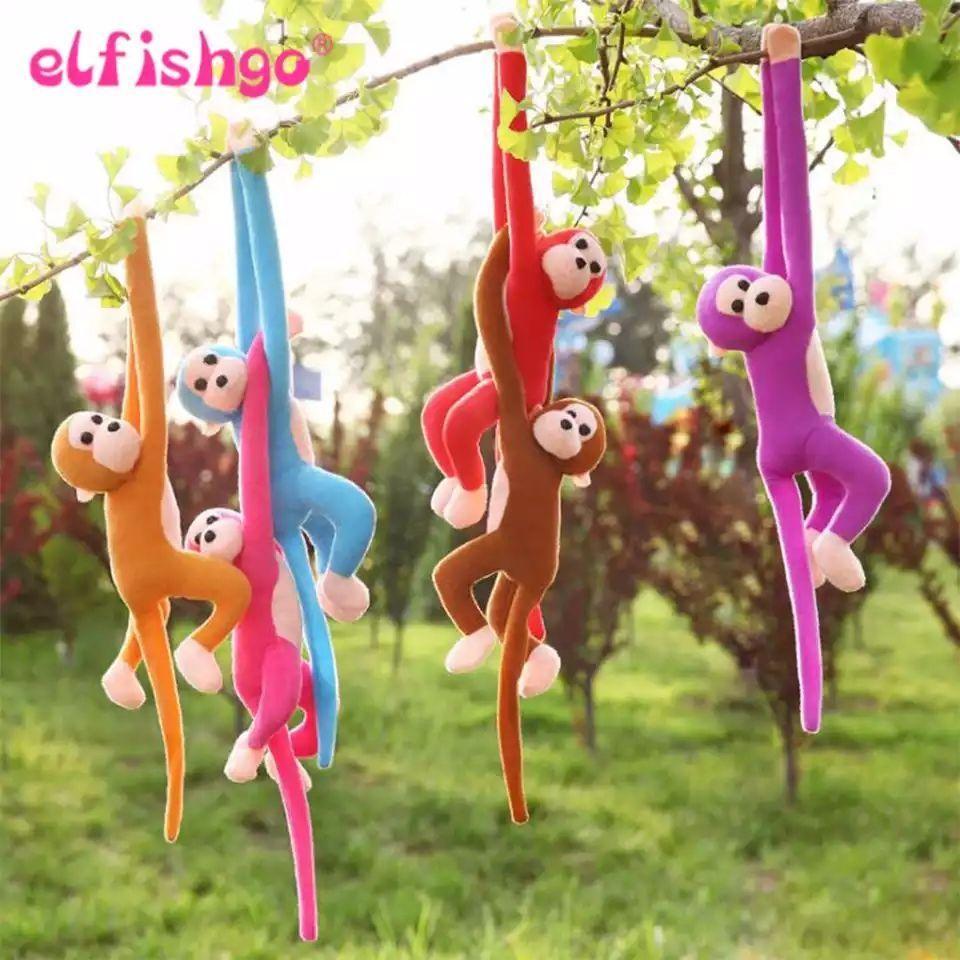 60CM Kawaii Long Arm Tail Monkey Stuffed Doll Plush Toys Curtains Baby Sleeping Appease Animal Doll Birthday Gifts