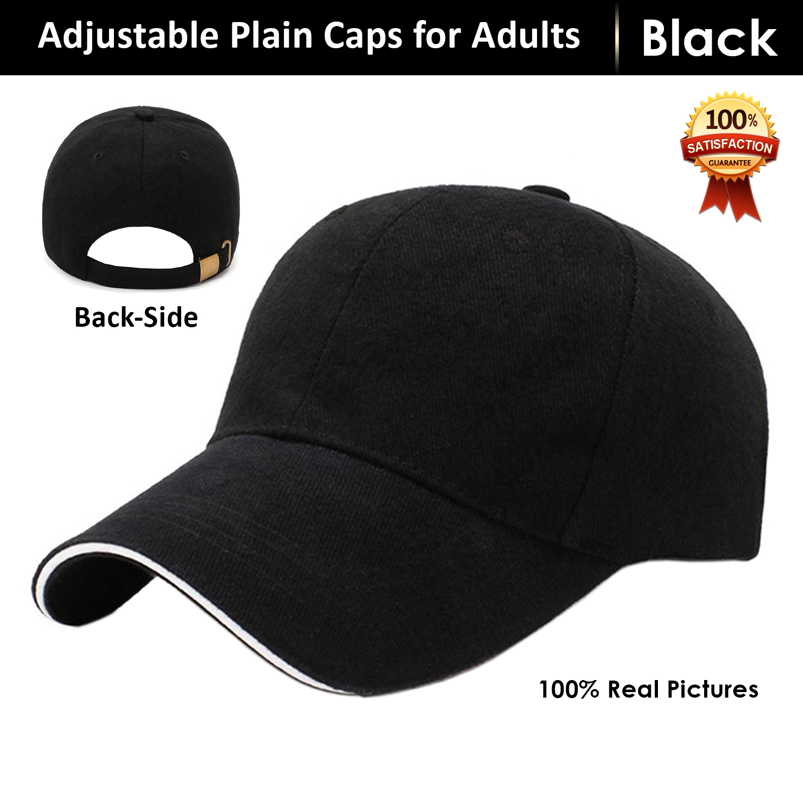 New Best Quality Outdoor Baseball Adults P Caps With Curved Brim For Men Hats for Unisex With Adjustable Buckle Sun Protection Cap for Men in Black Blue Red Brown Beige Grey and White