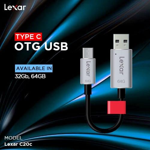 LEXAR C20c TYPE C OTG USB 130mb/s 3.1