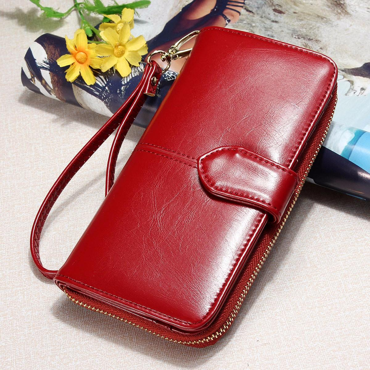 7c28d6803a8c Fashion Lady Women Leather Wallet Long Card Holder Case Clutch Purse Handbag  HOT Wine Red
