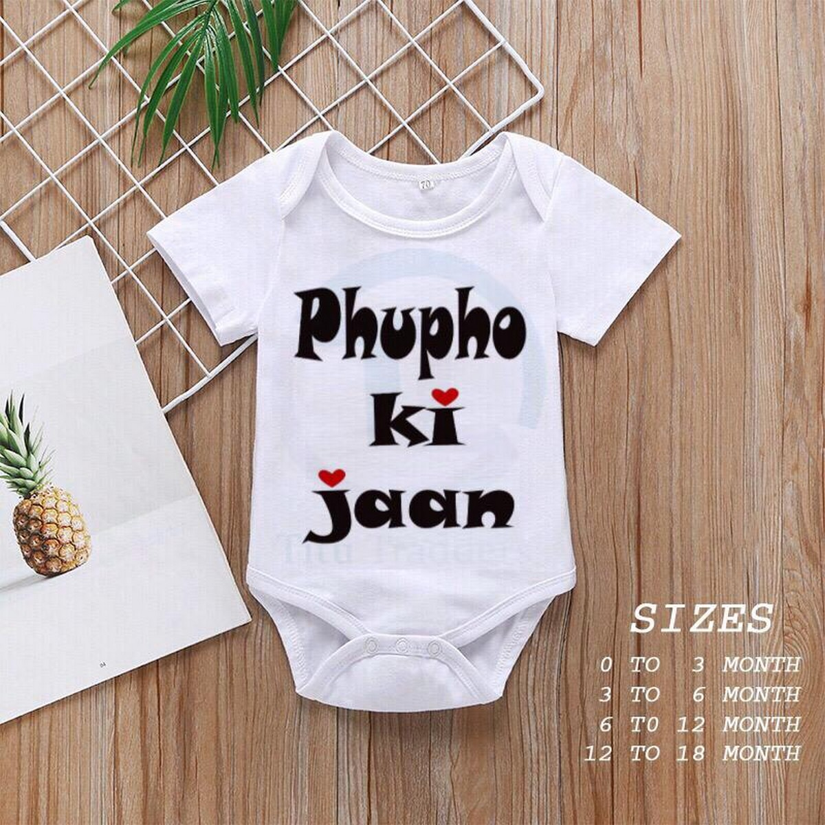 Baby Girls and Boys Half Sleeves Cotton Body suits Newborn to 18 Months, Baby Romper (Phupo ki jaan 02)